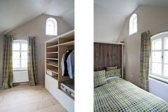 Ferienhaus - Schlafzimmer mit Ankleide