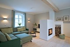 Ferienhaus - Blick ins Wohnzimmer